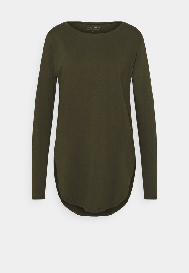 LONG SLEEVE TEARDROP TEE - Topper langermet - khaki