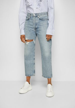 90'S CROP PANT  - Jeans Tapered Fit - echo/light blue