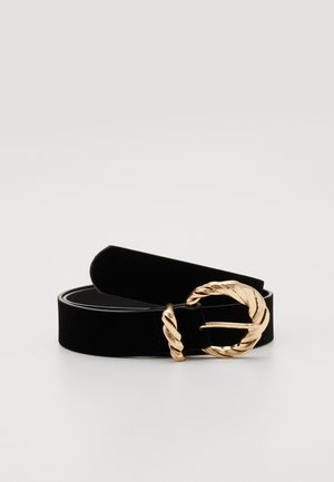 PCVINTACIA BELT - Belte - black/gold-coloured