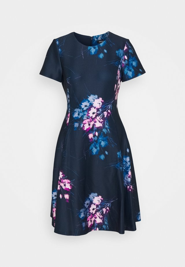 Jersey dress - navy multi
