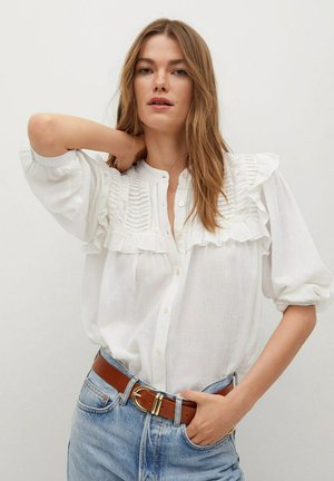 JULIETA - Button-down blouse - blanco roto