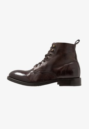 Lace-up ankle boots - brown washed