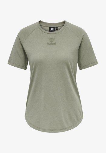HMLVANJA - Basic T-shirt - vetiver