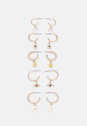5 PACK - Oorbellen - gold-coloured