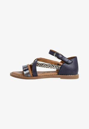 Sandals - navy/comb