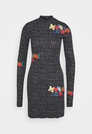 DRESS - Jersey dress - lettering black