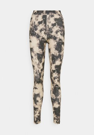 ONLSPORTY - Leggings - Trousers - ecru/tie dye black
