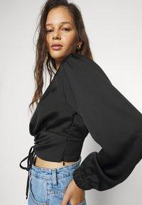 Gina Tricot - TARA BLOUSE - Blouse - black - 3
