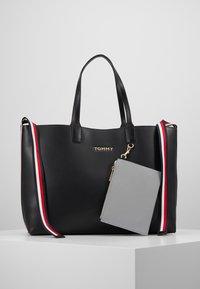 Tommy Hilfiger - ICONIC TOTE SOLID - Tote bag - black - 5