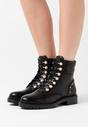 PEARLEY - Lace-up ankle boots - black