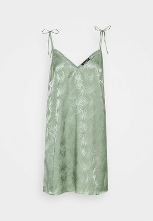 LEAF TIE SHOULDER NIGHTDRESS - Nightie - light green
