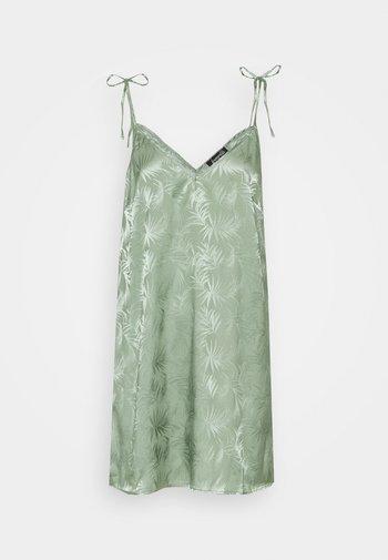 LEAF TIE SHOULDER NIGHTDRESS - Nightie - light green