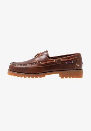 PORTLAND LUG WAXY - Boat shoes - brown