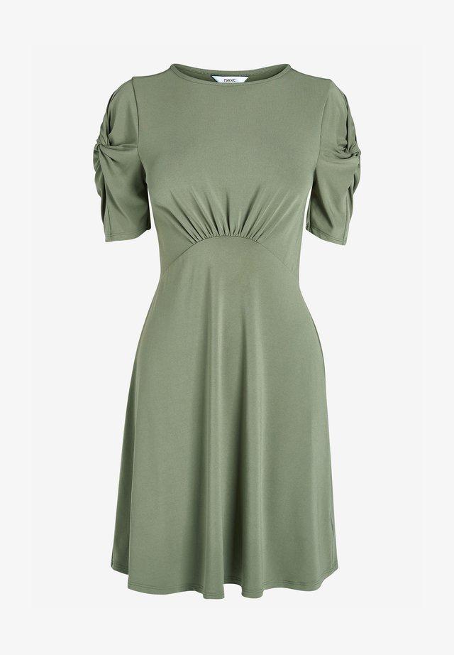 Sukienka z dżerseju - khaki