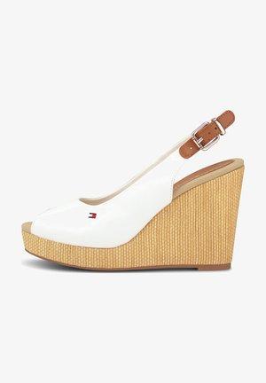ICONIC ELENA - Peeptoe heels - weiß