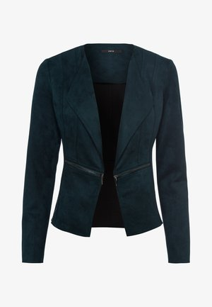 VELOURSLEDEROPTIK - Blazer - dark green