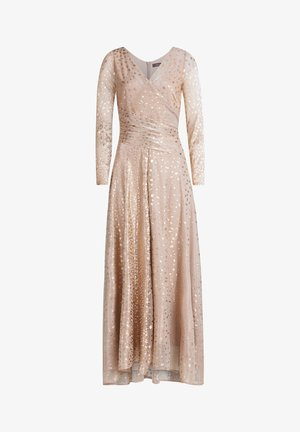 IM GLITZER-LOOK - Cocktail dress / Party dress - white/copper