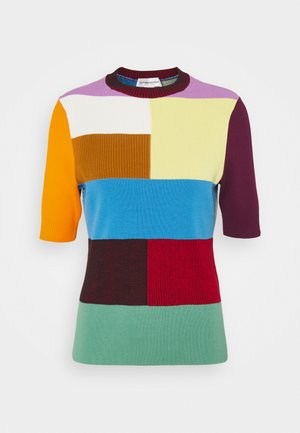 PATCHWORK SHORT SLEEVE - Maglione - multi