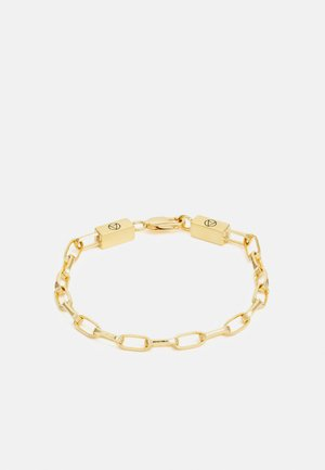 LARGE CABLE CHAIN LINK BRACELET UNISEX - Rannekoru - gold-coloured