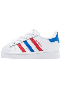 footwear white/blue/scarlet