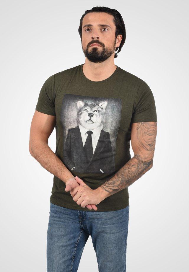 T-shirt print - ivy gre m
