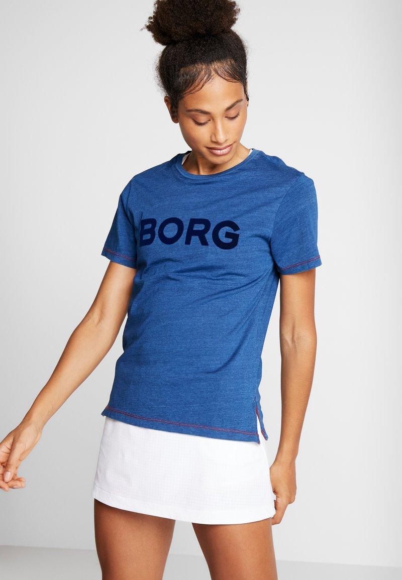 Björn Borg - LOOSE TEE - Triko spotiskem - denim washed