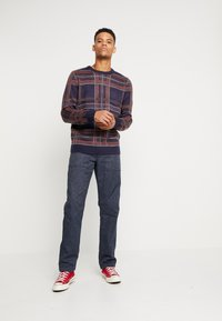 J.CREW - MILITARY CAMP PANT - Trousers - railroad navy - 1