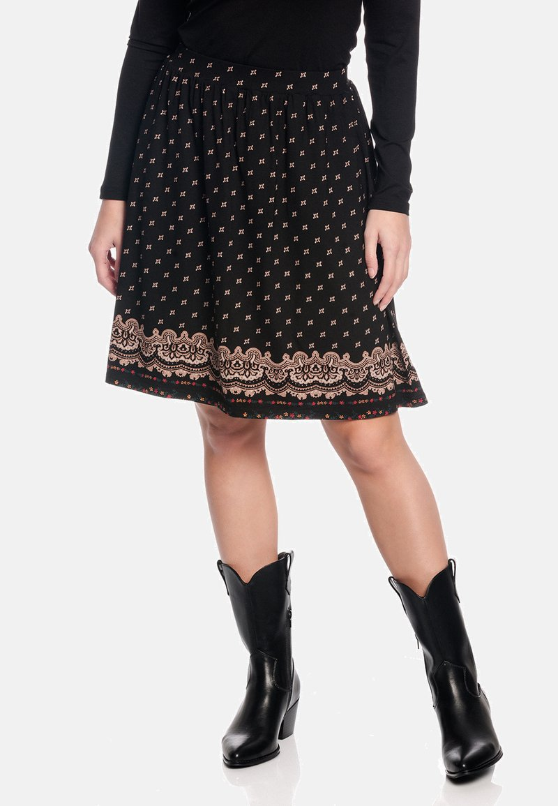 Vive Maria - ROCK HEIDI SWING  - A-line skirt - schwarz allover
