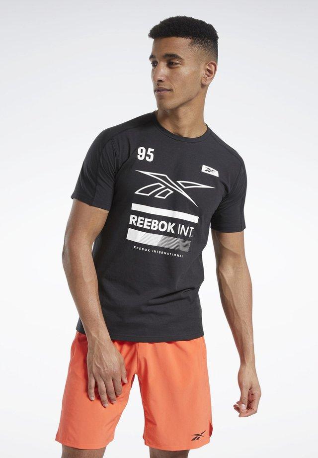 SPEEDWICK GRAPHIC MOVE T-SHIRT - T-shirt imprimé - black