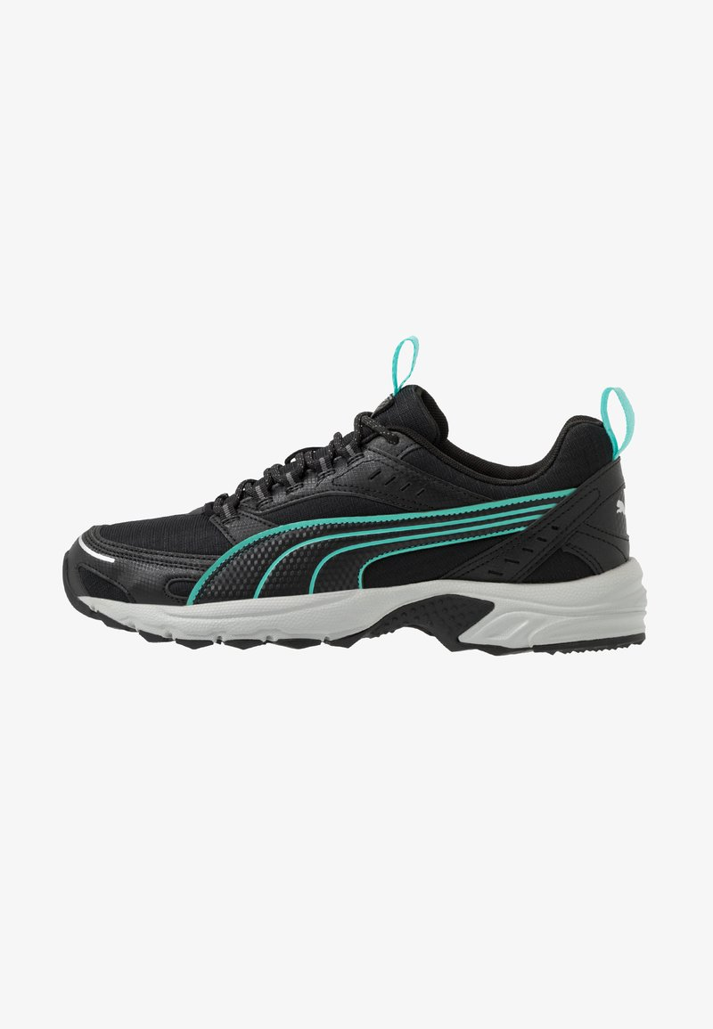 Puma - AXIS - Sneaker low - black/blue turquoise/castlerock/silver/high rise