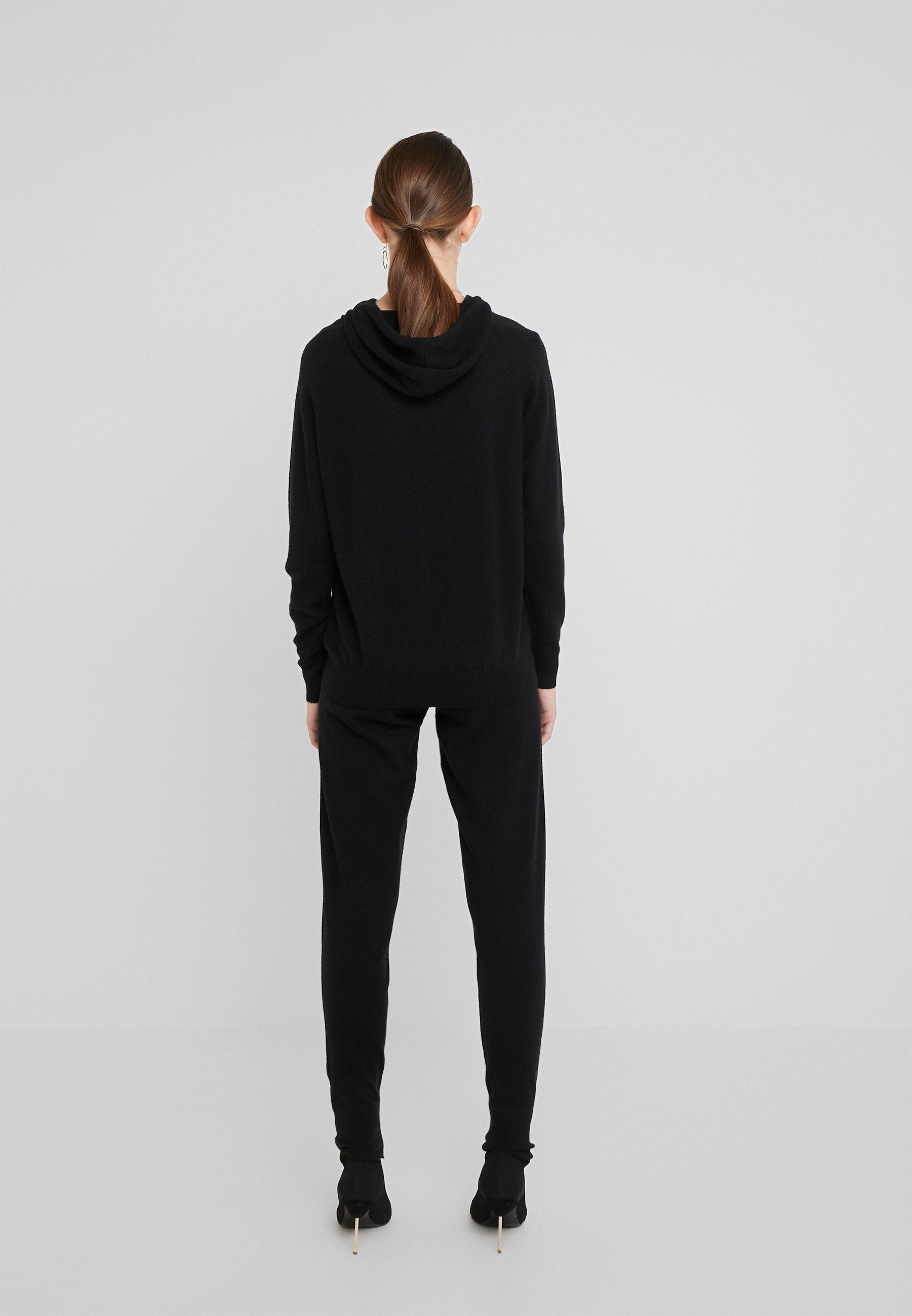 Particular Discount Women's Clothing Davida Cashmere FRONT POCKET HOODIE Hoodie black P46da3JbZ