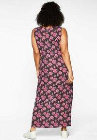 Sheego - Maxi dress - schwarz bedruckt - 1