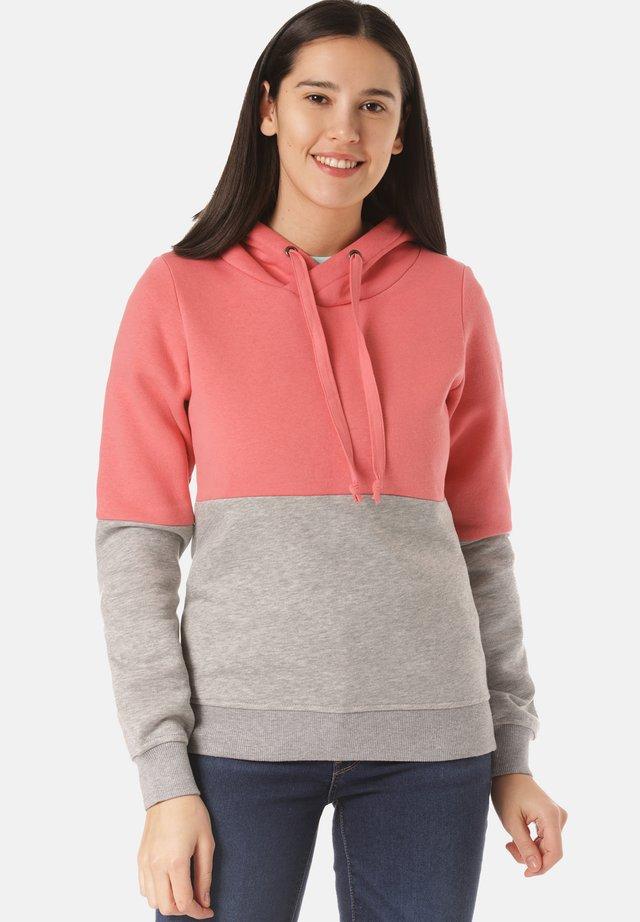Hoodie - light pink/grey