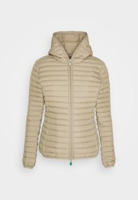 Save the duck - IRIS ALEXIS HOODED JACKET - Light jacket - desert beige - 0
