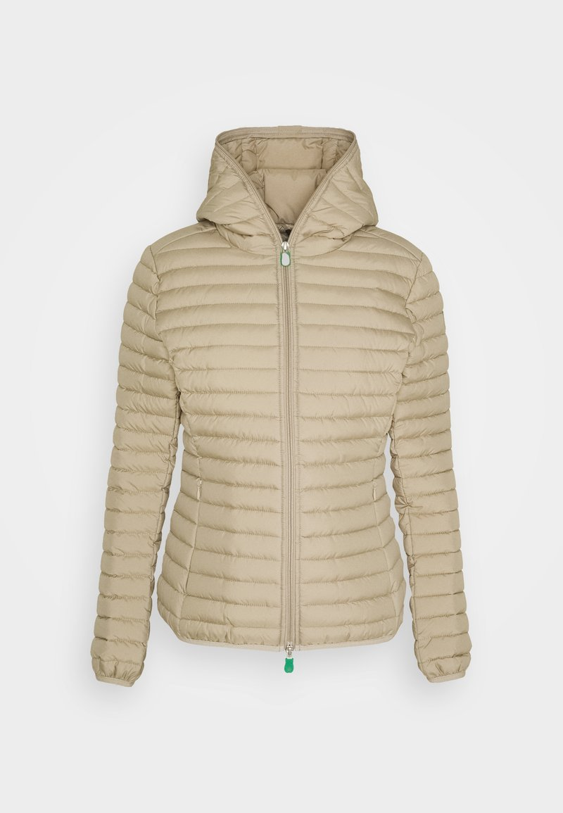 Save the duck - IRIS ALEXIS HOODED JACKET - Light jacket - desert beige
