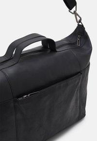 Zign - LEATHER UNISEX - Weekend bag - black - 3