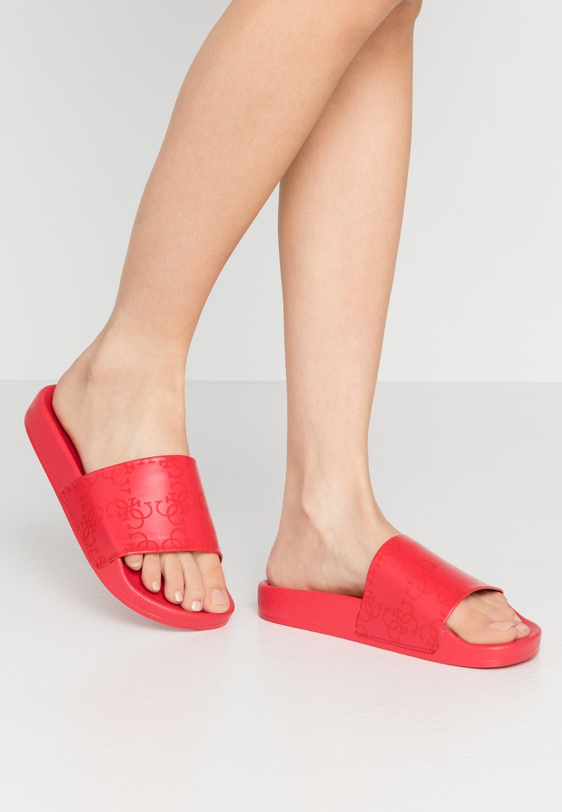 Guess - Pantofle - red