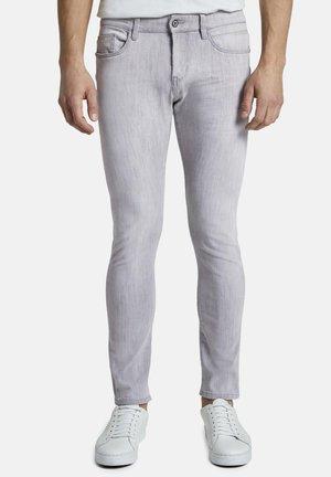 TROY - Slim fit jeans - light stone grey denim