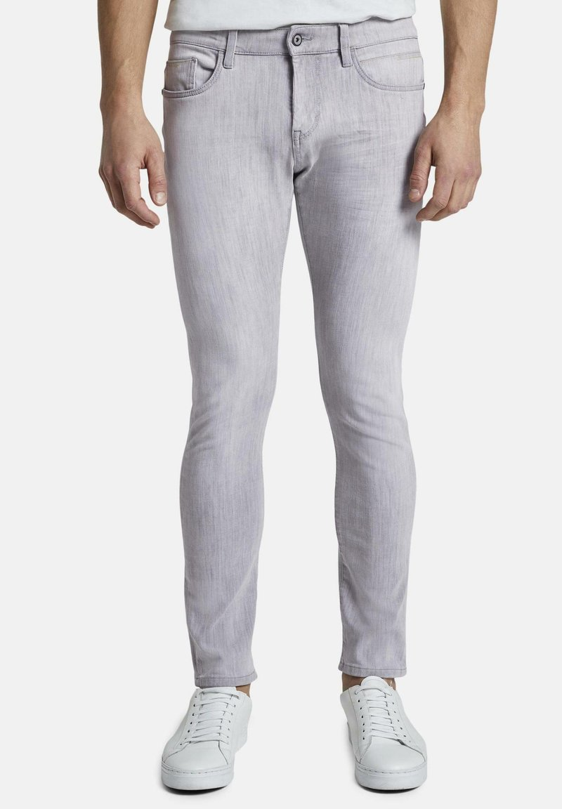 TOM TAILOR - TROY - Slim fit jeans - light stone grey denim