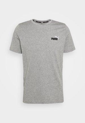 EMBROIDERY LOGO TEE - Camiseta básica - medium gray heather