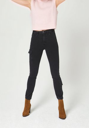 Slim fit jeans - washed out black