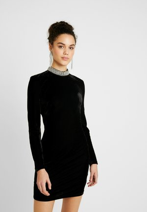 BEADED DRESS - Cocktail dress / Party dress - black