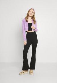 NEW girl ORDER - DIAMANTE BUTTERFLY HOODIE - Zip-up sweatshirt - lilac - 1