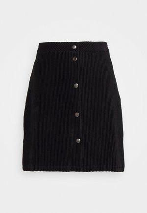 ONLFENJA LIFE BUTTON SKIRT - A-line skirt - black