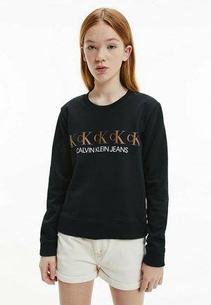 REPEAT FOIL - Sweatshirt -  black
