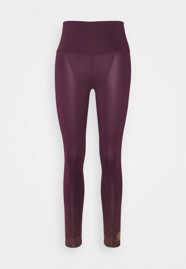 FOIL FADE PRINT LEGGING - Collants - purple