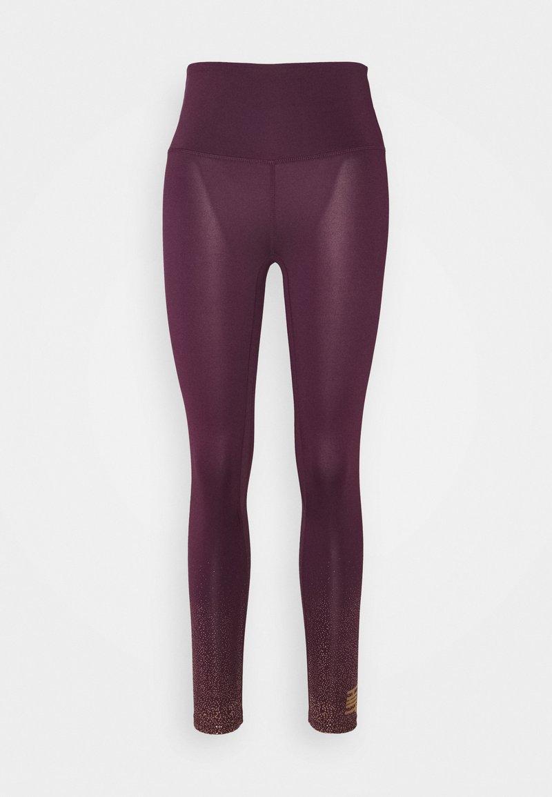HIIT - FOIL FADE PRINT LEGGING - Leggings - purple