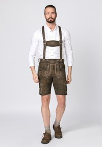 Stockerpoint - BEPPO - Shorts - brown/light brown - 1
