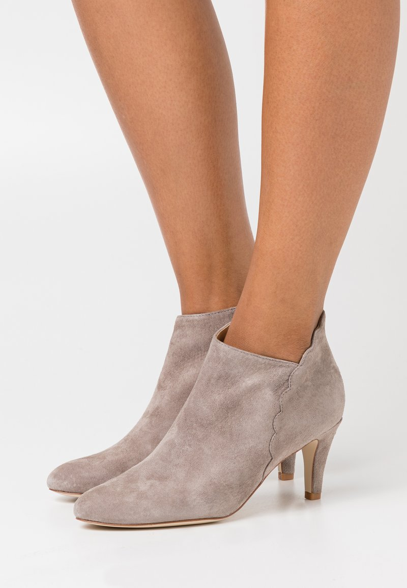 Anna Field - LEATHER - Ankle boots - grey