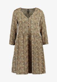 YAS - YASHURA SHORT DRESS - Hverdagskjoler - light brown/black - 4
